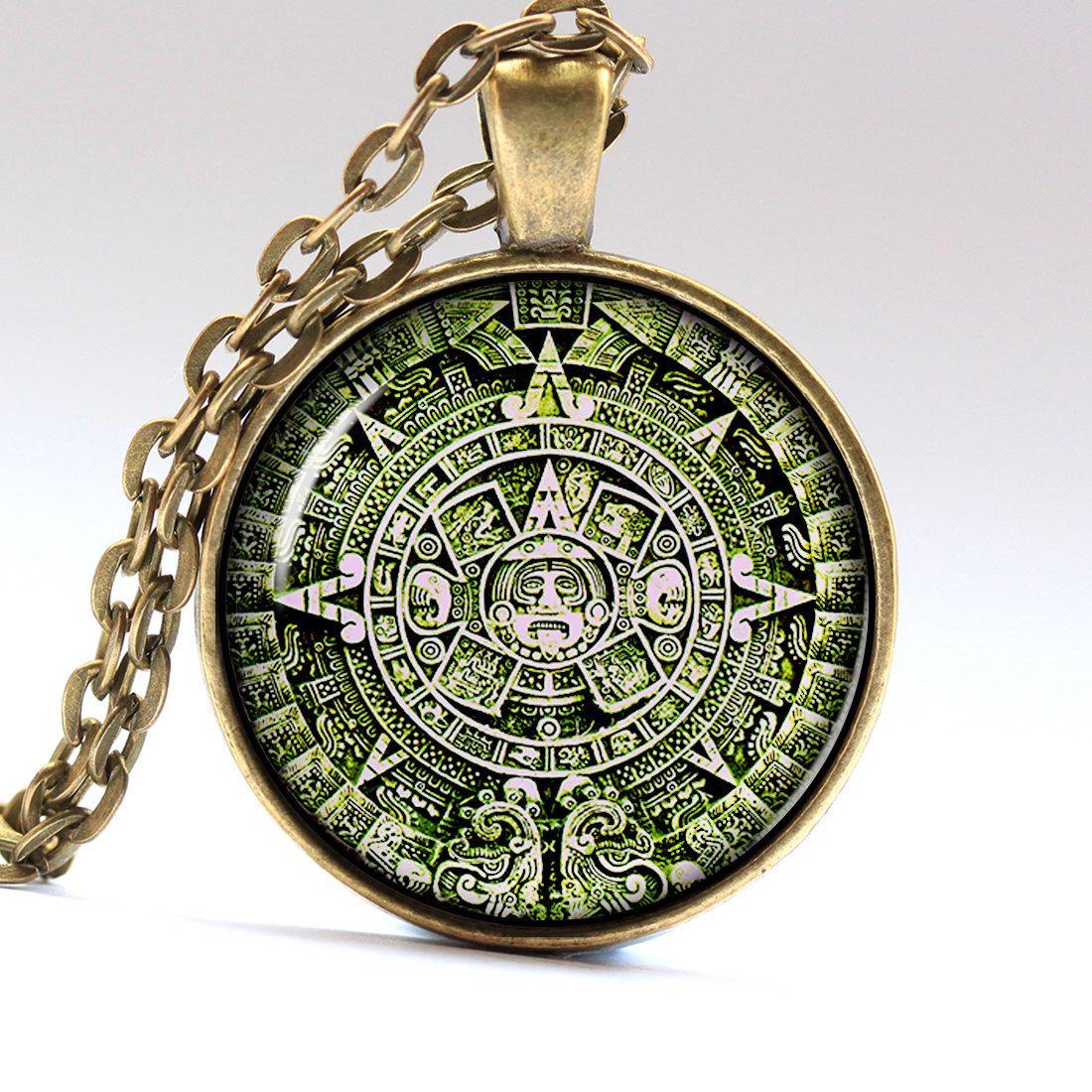 Green aztec jewelry aztec calendar mexican necklace aztec necklace green aztec jewelry aztec calendar mexican necklace aztec necklace aztec pendant mexican pendant mexican jewelry lg317 mozeypictures Gallery