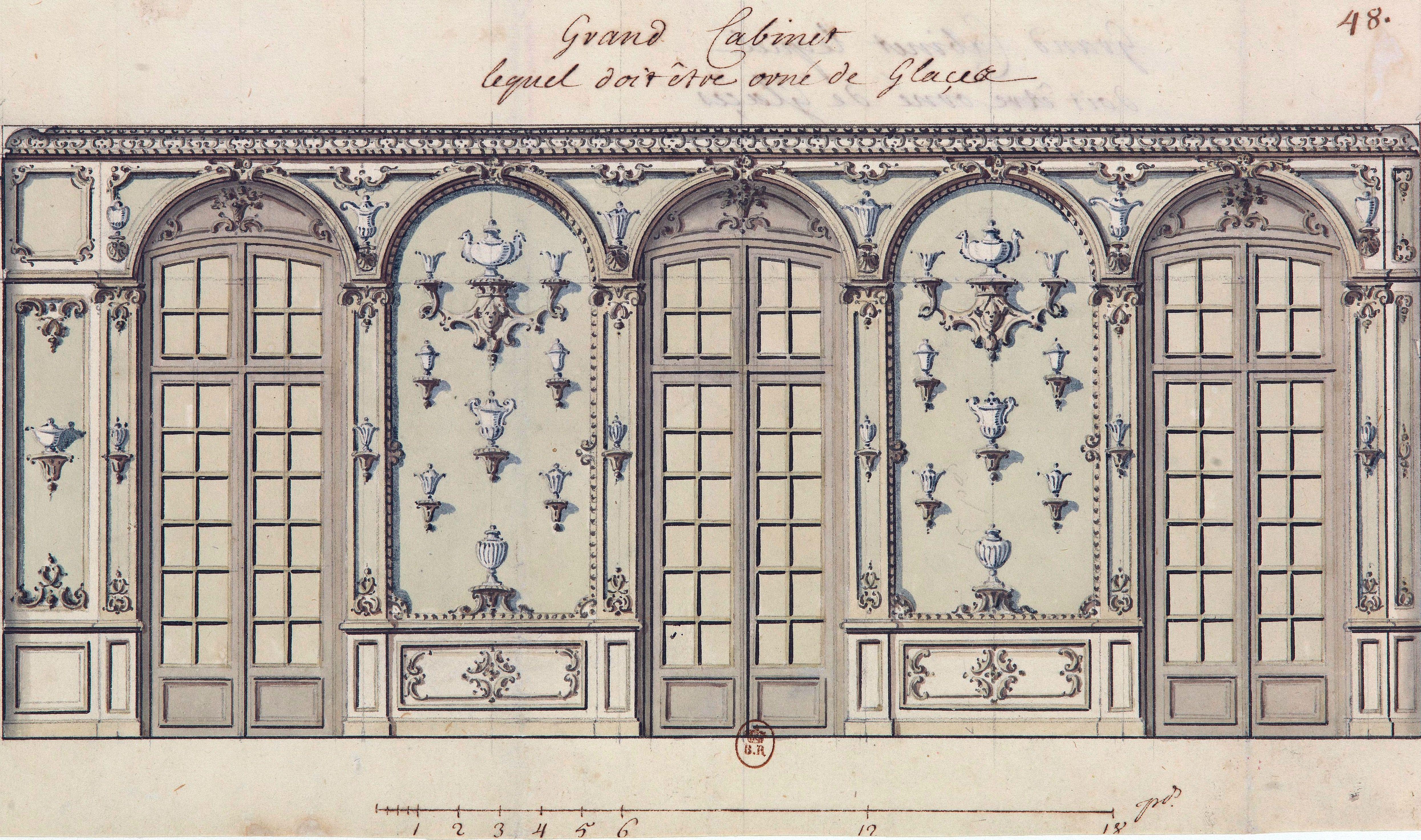 Decoraci n para el gabinete de espejos del palacio del for Decoracion de espejos