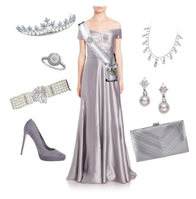 """White Tie Ball"" by nmccullough ❤ liked on Polyvore featuring Kay Unger New York, Ross-Simons, Mikimoto, Sergio Rossi, Jacques Vert, Bling Jewelry and Effy Jewelry"