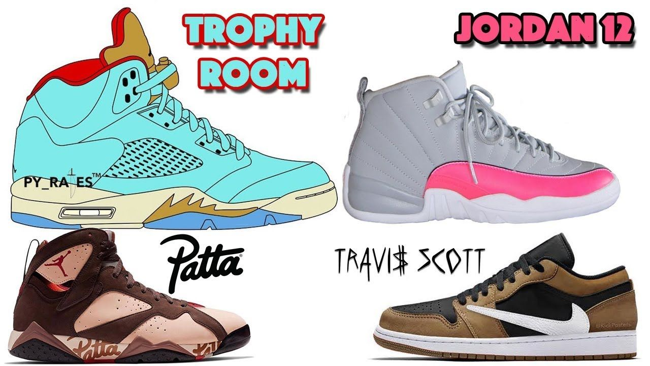 Trophy Room Air Jordan 5 Jordan 12 Grey Pink Travis Scott Jordan