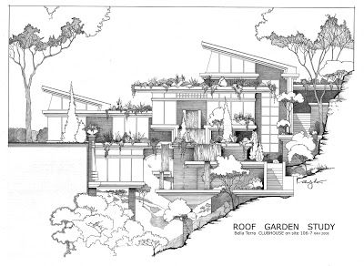 Architecture Drawing Blog roof garden blog (400×292)   studio   pinterest