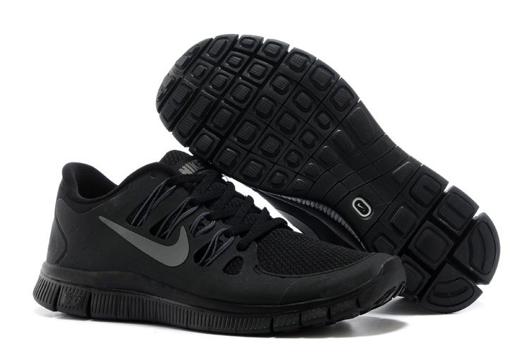 competitive price 03975 92c2a Nike Free 5.0 Mens All Black Training Shoes-www.gettofe.