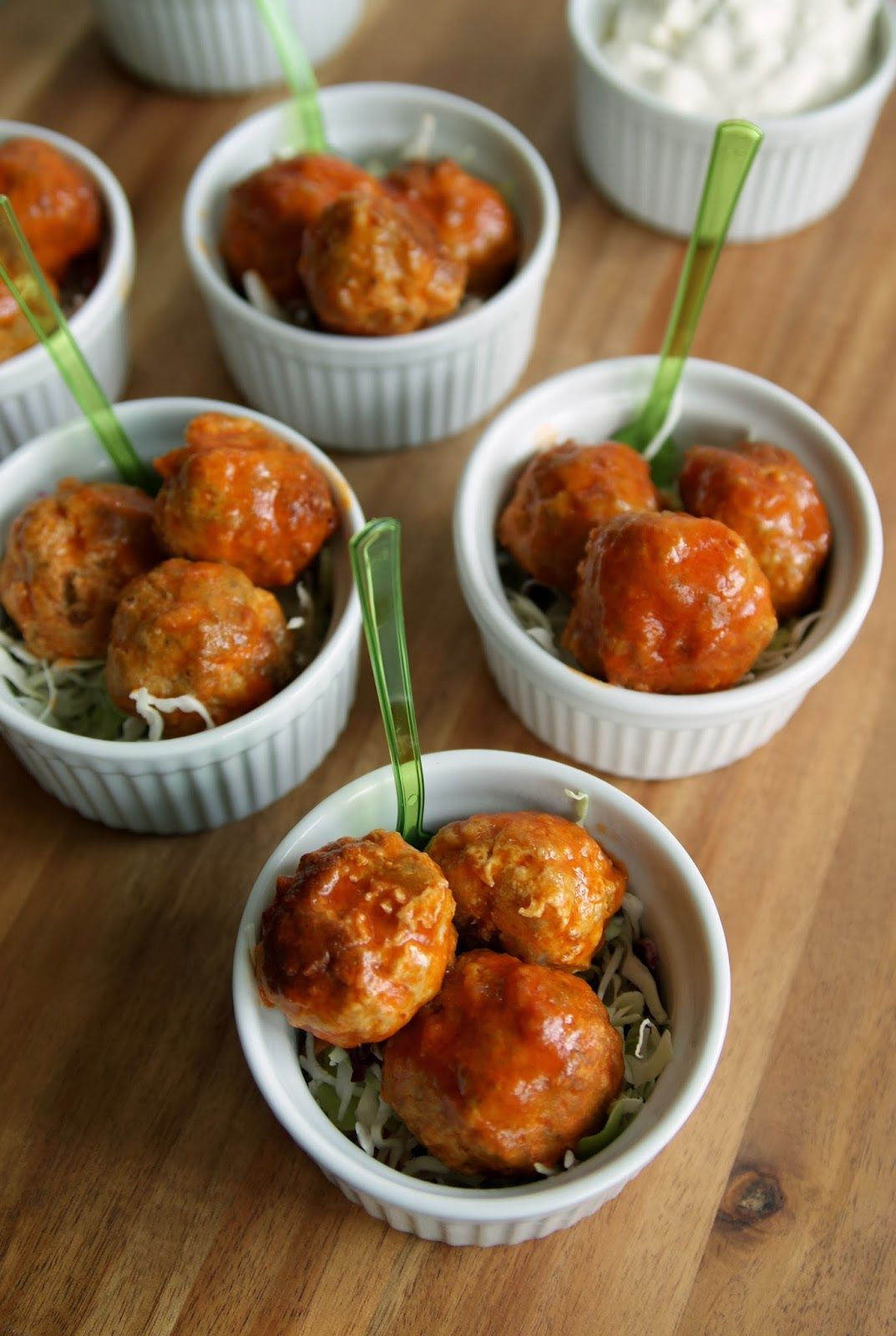 Alice and the Mock Turtle: Buffalo Style Turkey Meatballs