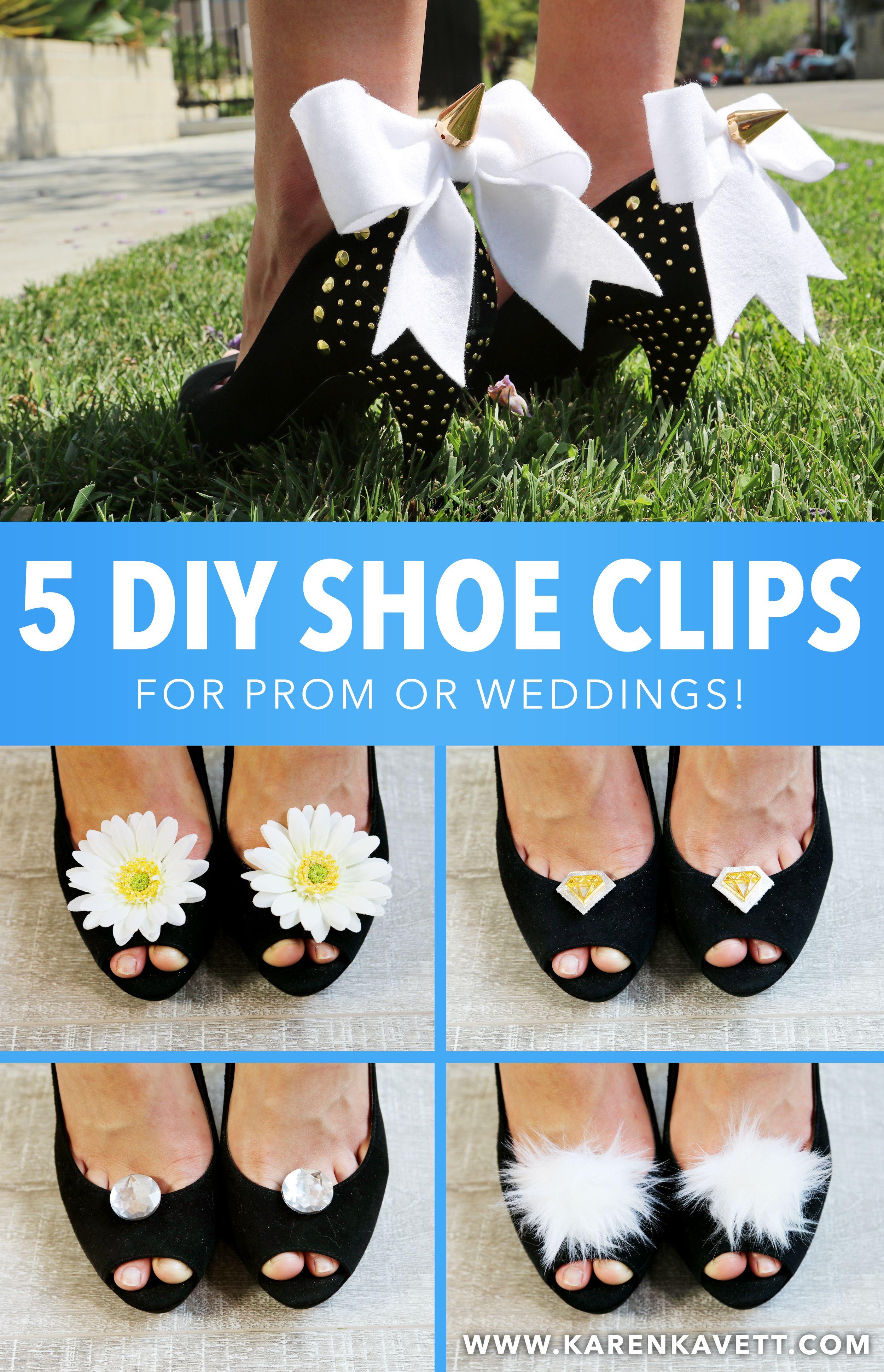 5 DIY Shoe Clips for Prom or Weddings!   Karen Kavett