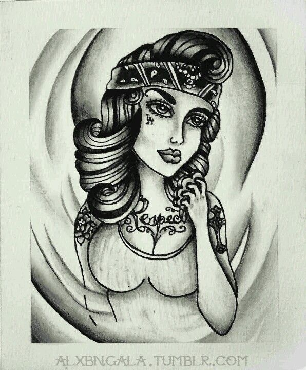 Chola Girl Drawing : chola, drawing, Delila, Style, Chicano, Lowrider, Drawings