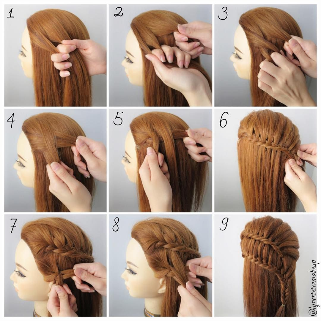 Lynette Tee On Instagram Fishtail Ladder Braid Check Out The Instruction As Below 1 Divide Into 2 Ladder Braid Braids Step By Step Cool Braid Hairstyles