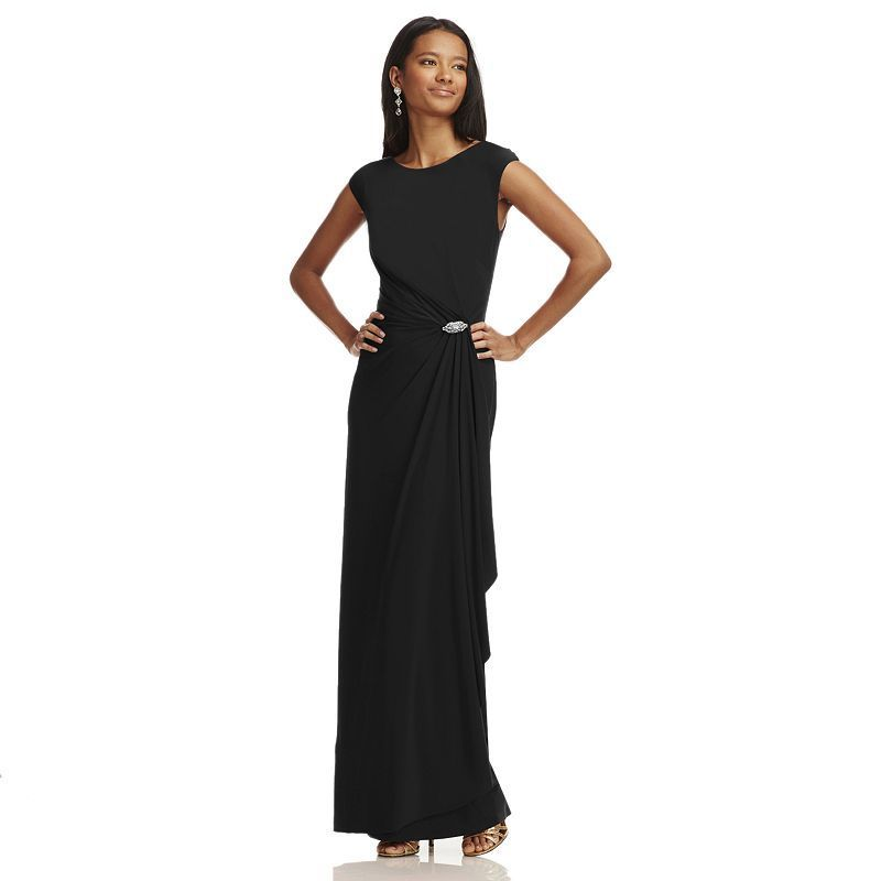 903f14c66e9 Women s Chaps Embellished Faux-Wrap Evening Gown