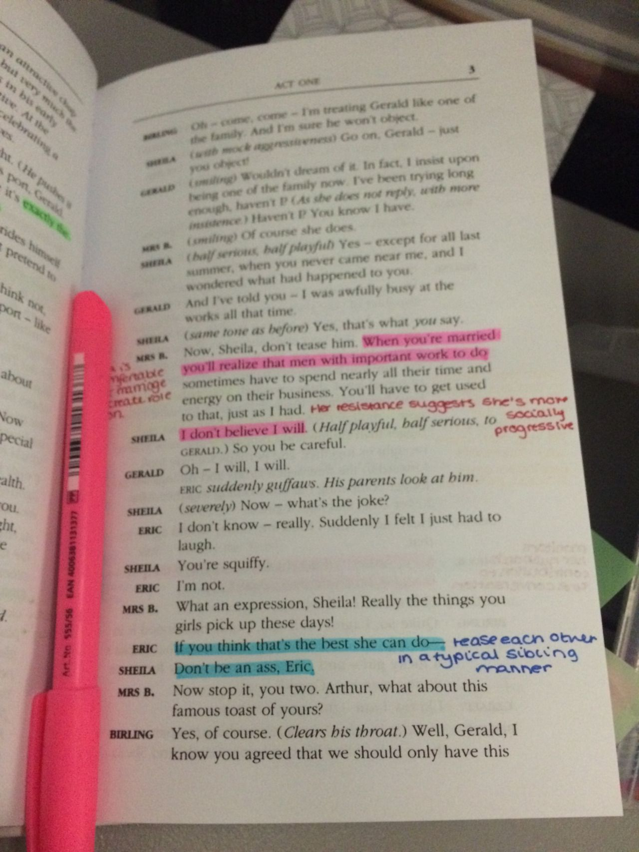 SparkNotes: An Inspector Calls: Themes