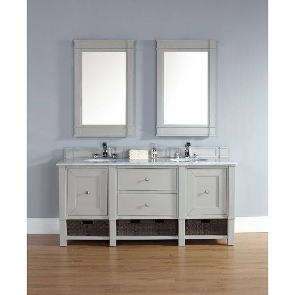 James Martin 72 Inch Double Grey Bathroom Vanity
