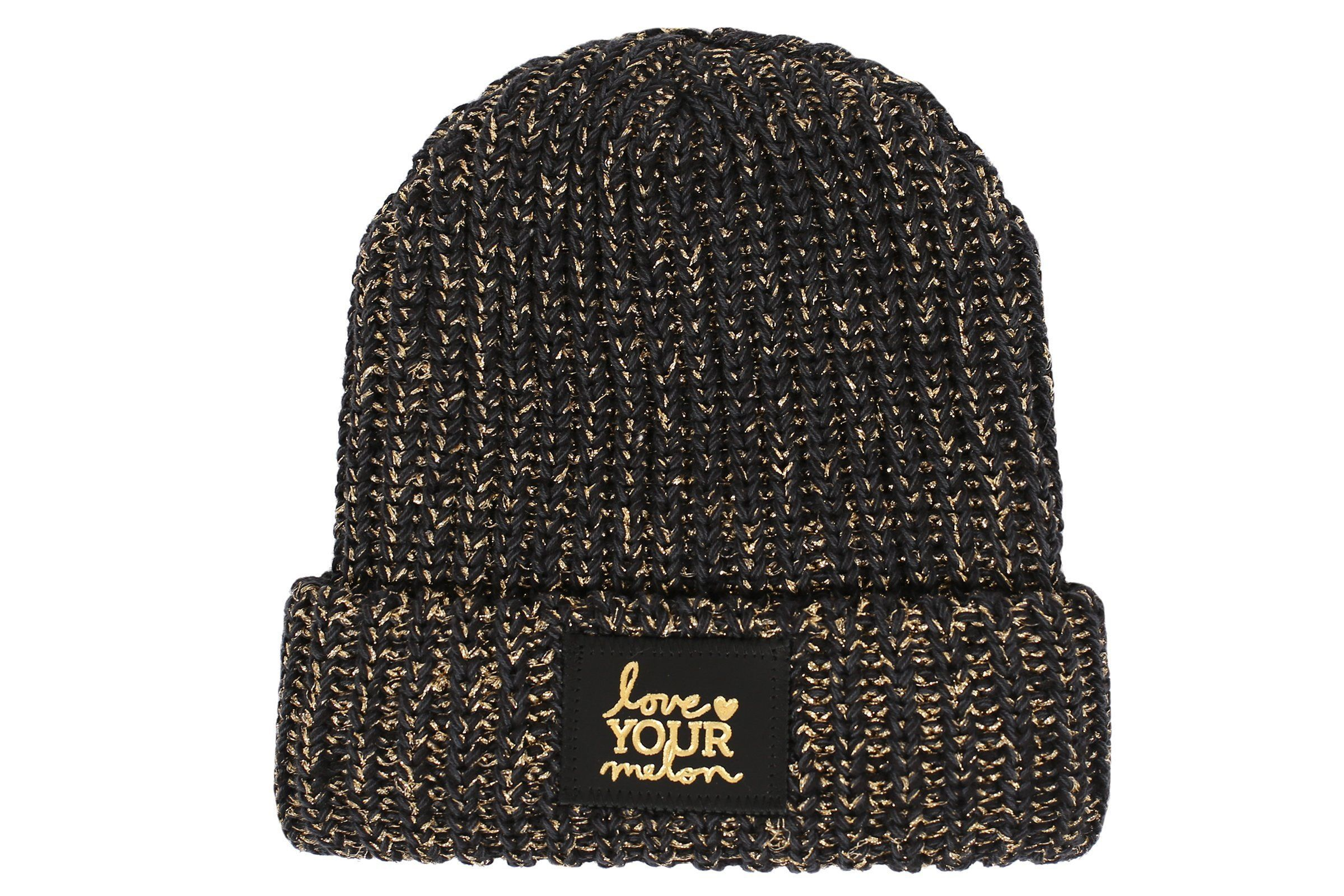 b5a9cb1710139  35 - Love Your Melon - Beanie - Smoke Speckled Metallic Gold Yarn Cuffed  Beanie