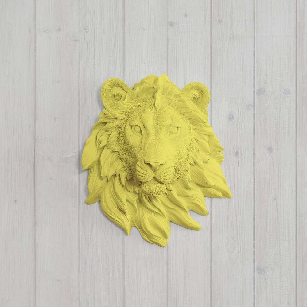 Mini Resin Lion Head Wall Mount   Project nursery, Nursery and Wall ...