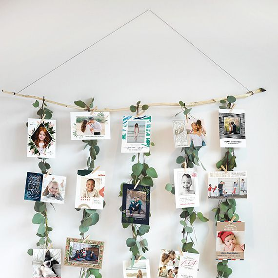 Turn Your Christmas Cards Into A Festive Garland