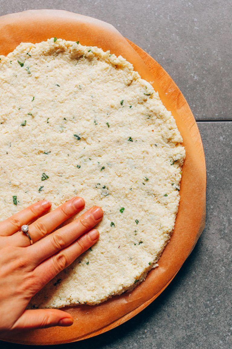 Vegan Cauliflower Pizza Crust Recipe Vegan Cauliflower Pizza