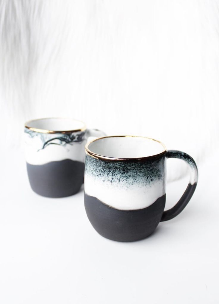 Handmade Ceramic Mugs With Gold Detail | clearblur... - #Ceramic #clearblur #detail #Gold #Handmade #Mugs #rands #teamugs