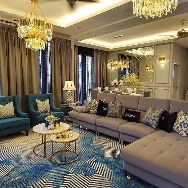 Pin By Lolo D On كنب Living Room Decor Apartment Luxury Dining Room Home Entrance Decor