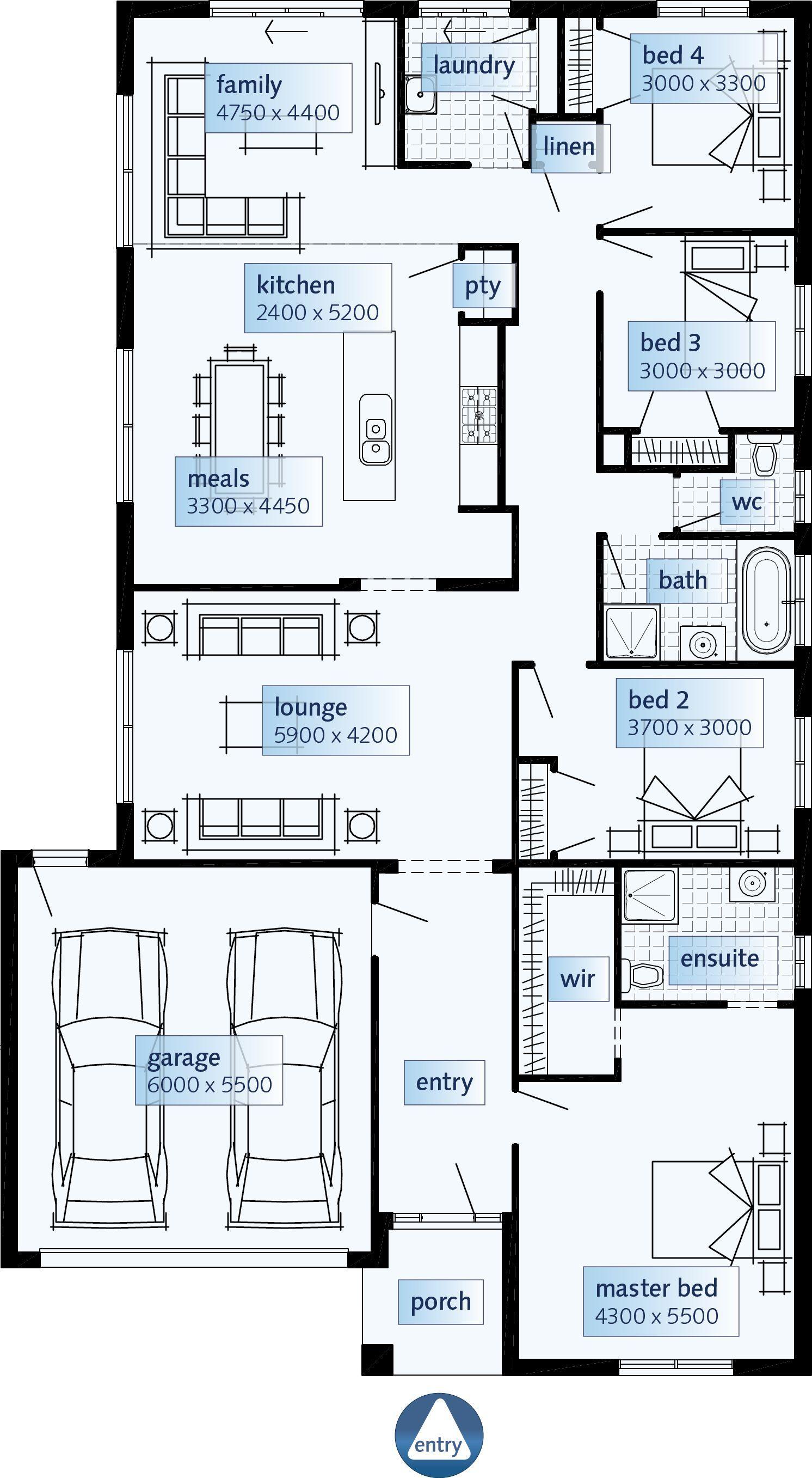 Ibuildnew Westbury Langridge Simonds Express Classic Single Storey House Plans Australian House Plans Simonds Homes