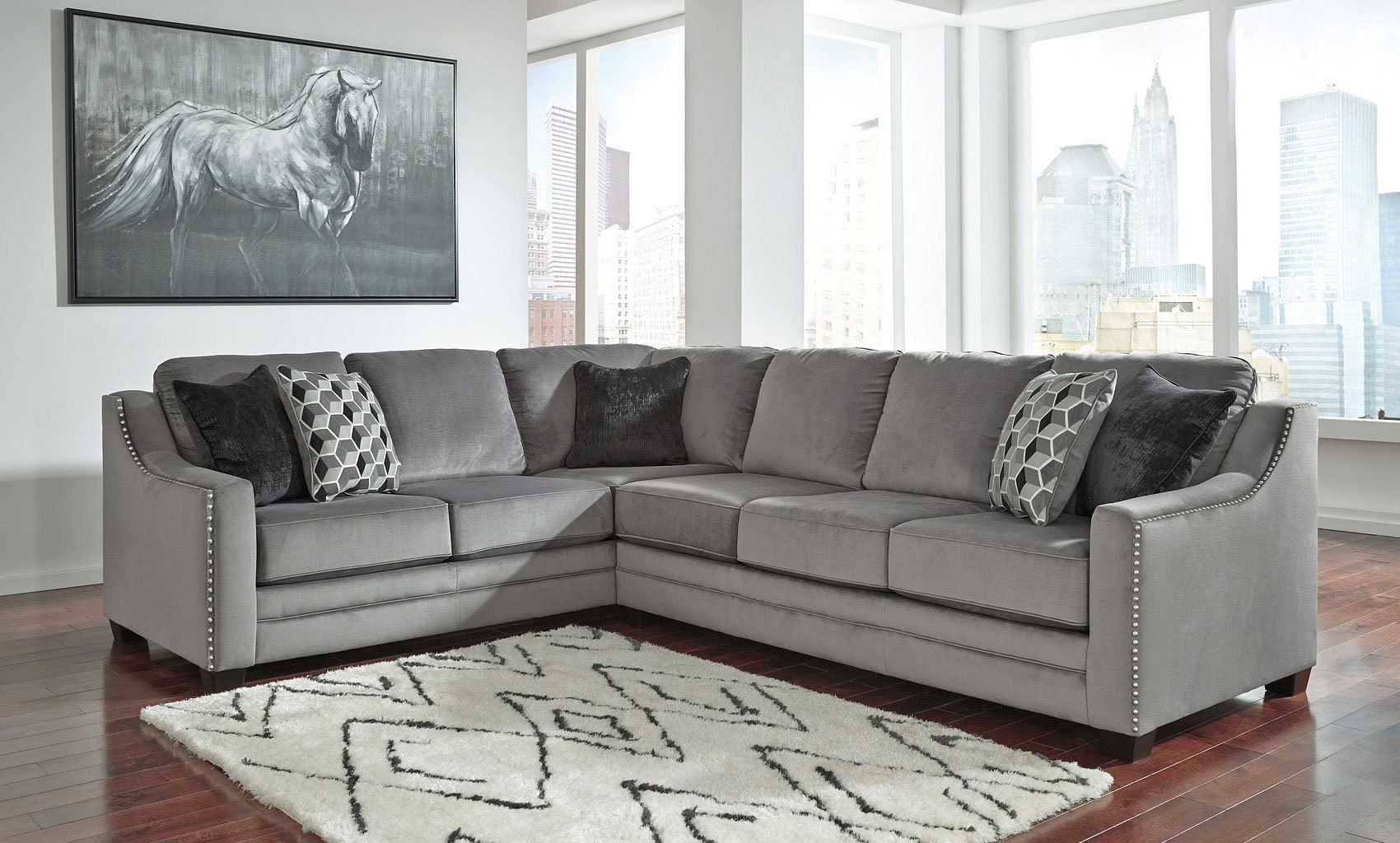 Peachy Bicknell Charcoal Right Sofa Sectional Ideas And Designs Pdpeps Interior Chair Design Pdpepsorg