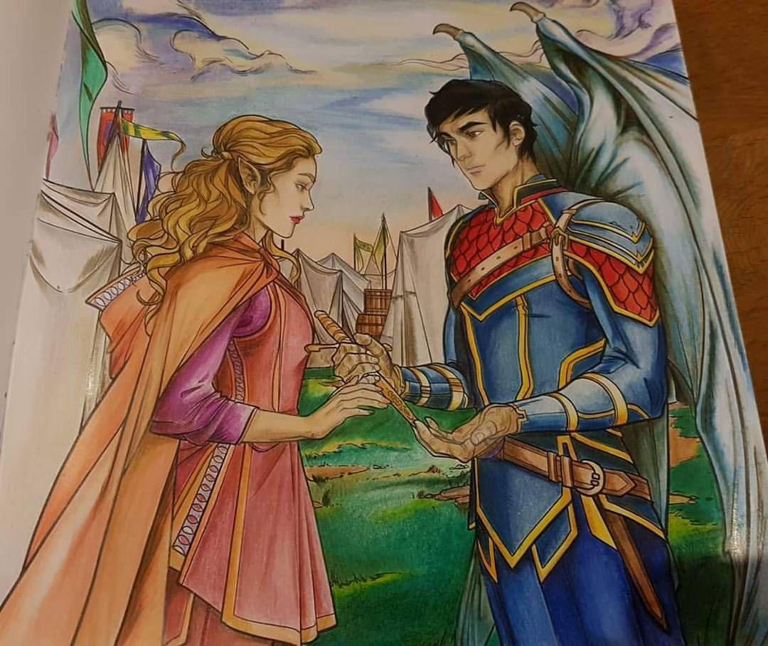 Acotar Colouring Book Pages Coloring Books Coloring Book Pages