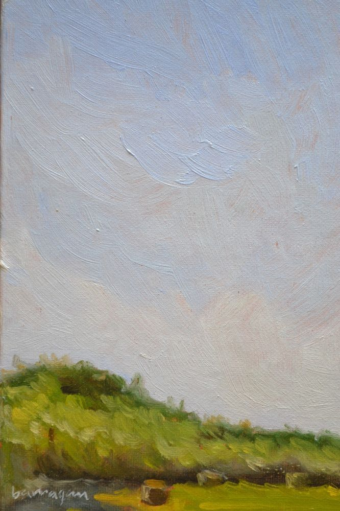 I'm inspired by the little things like hay bales in the morning light.  Check out my Umbria landscapes on Ebay. ebay.com/usr/barraganpaintings