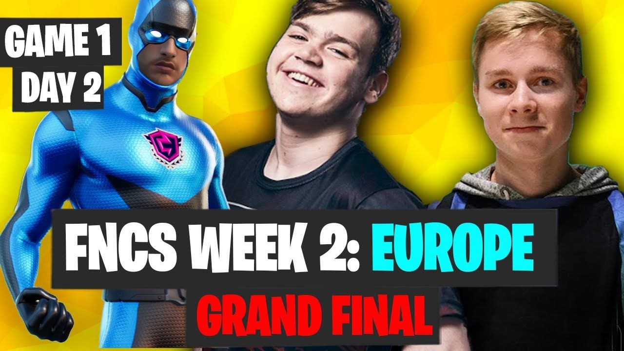 FNCS Week 2 Final Day 2 Game 1 Highlights EU Fortnite