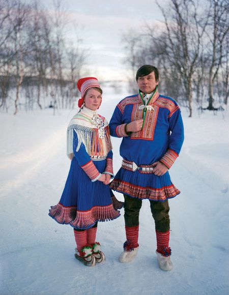Sami People Norway Traditional Outfits Folk Costume Folk Dresses