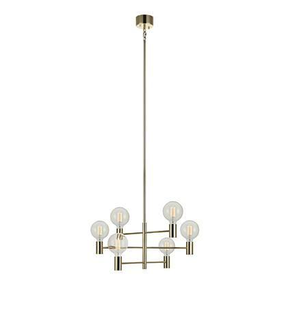 Markslöjd AB - Product Standard Item - CAPITAL Pendant 6L Brass - CAPITAL Pendant 6L Brass