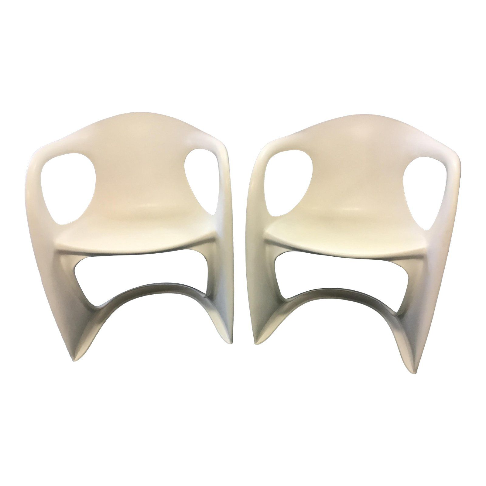 Vintage Mid Century Plastic Chairs A Pair Plastic Chair Chair Mid Century Chair