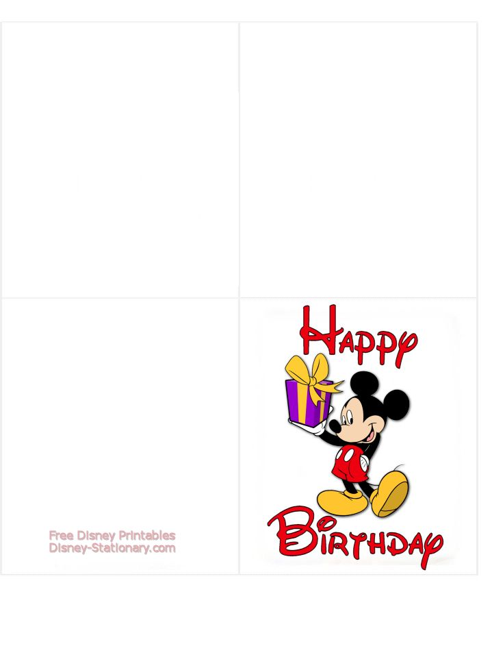 photo about Disney Birthday Cards Printable referred to as Mickey Mouse \u003e Printable Birthday Card \u003e Disney-Stationary