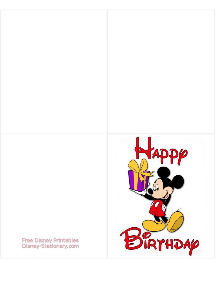 Disney Birthday Cards To Print Cardss