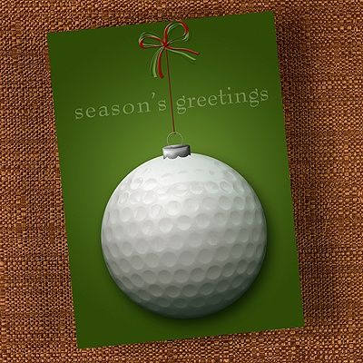 Golf Ball Greetings Invitation This white seasons greetings – Holiday or Seasons Greetings Invitation Cards