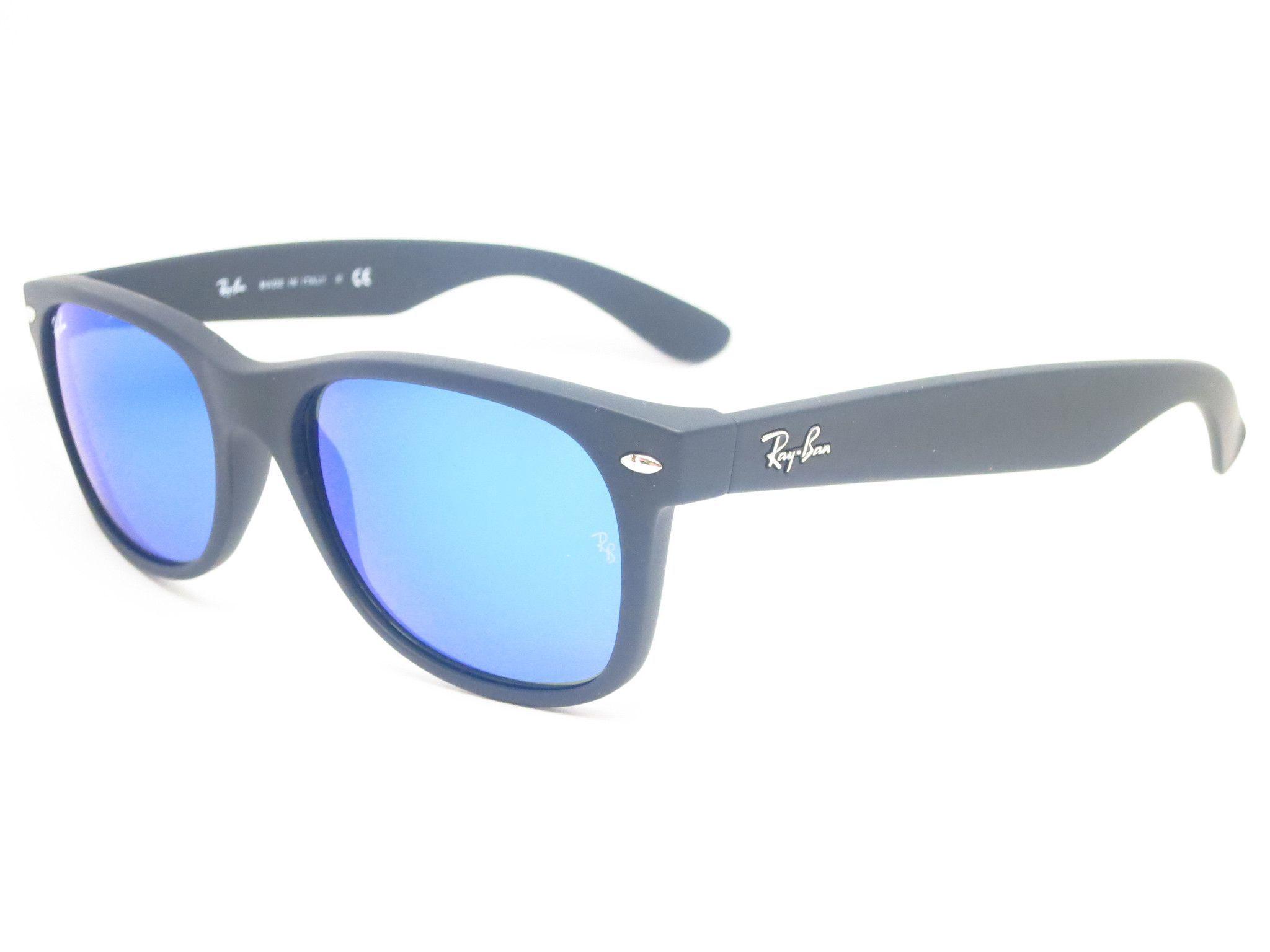 Ray-Ban RB 2132 New Wayfarer 622/17 Rubber Black Sunglasses   Pinterest
