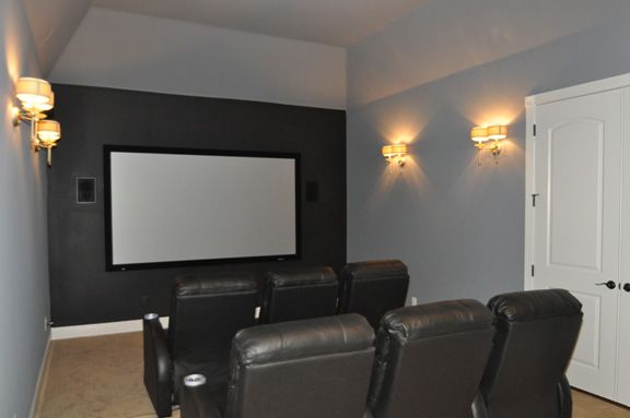 Hidden Speakers And System | Small Media Room | Pinterest