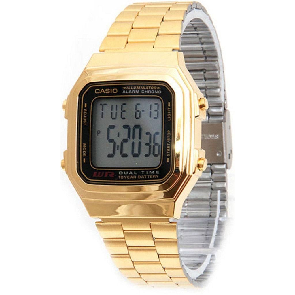 Vintage k casio watch kjewelry chain watch bracelet gold
