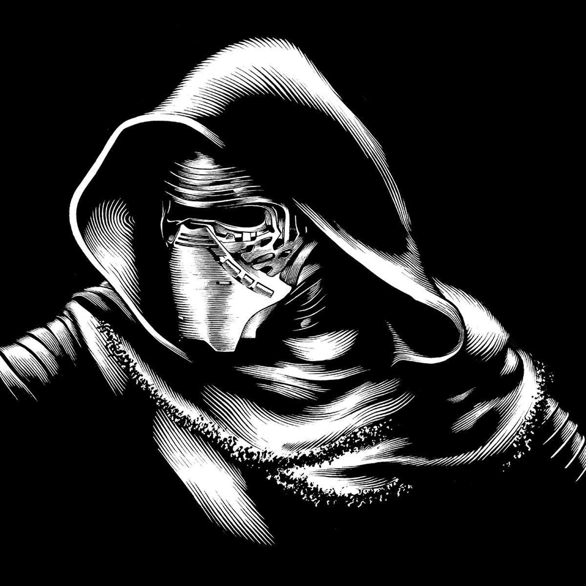 Kylo Ren Black Series Art By Gregory Titus Star Wars Black