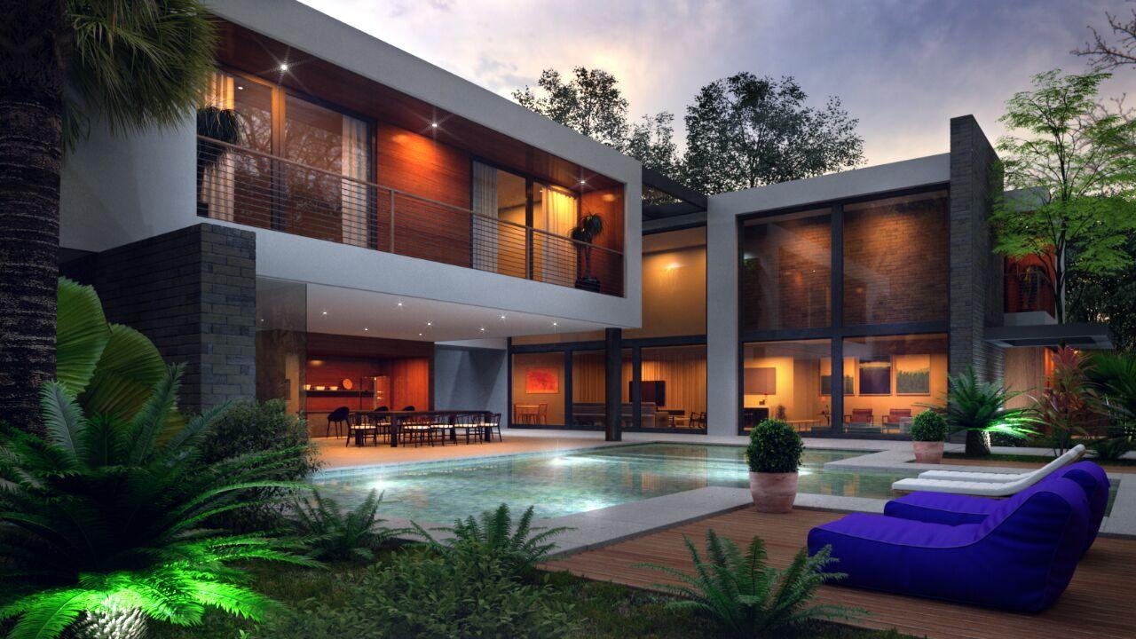 Aurora grei arquitetura pool houses patios container design aurora modern house design