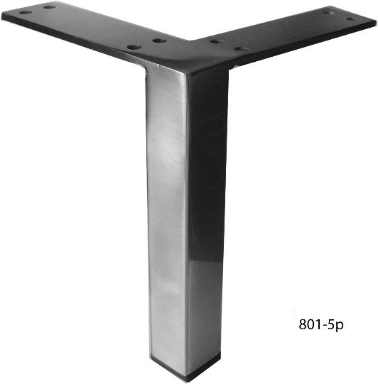 Straight Square Metal Furniture Leg Sofa Or Cabinet Foot Brushed