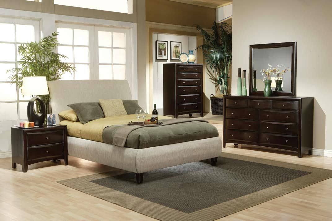 Coaster Furniture Phoenix King Fabric Wrapped Bed Quality