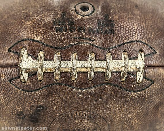 Vintage Football Laces Close Up Horizontal Photo Print Decorating Ideas Wall Decor Art Kids Room Nursery Gift