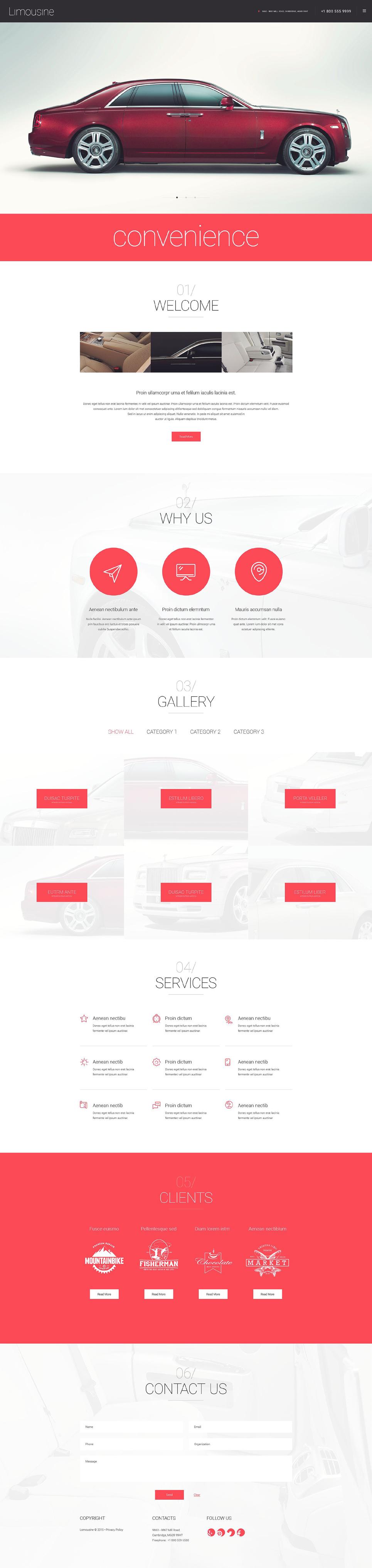 Limousine WordPress Theme | Car trader, Wordpress and Template