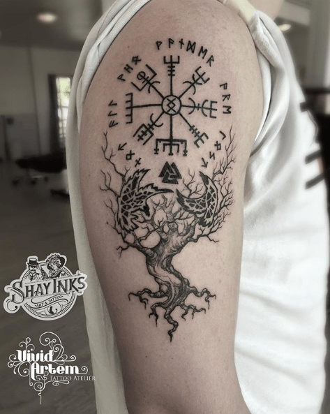 Yggdrasil Tattoo Meaning Yggdrasil Tattoo Viking Tattoo Symbol Norse Tattoo