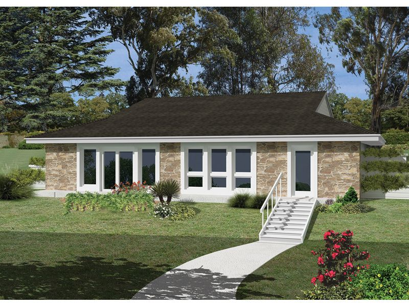 Rockspring Hill Berm Home Ranch Style House Plans Earth Sheltered Homes Mediterranean Style House Plans