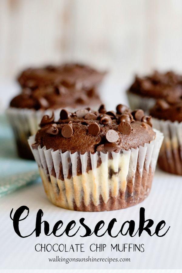 Photo of Cheesecake Chocolate Chip Muffins   Walking On Sunshine Recipes