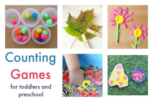 22 counting games for toddlers and preschool