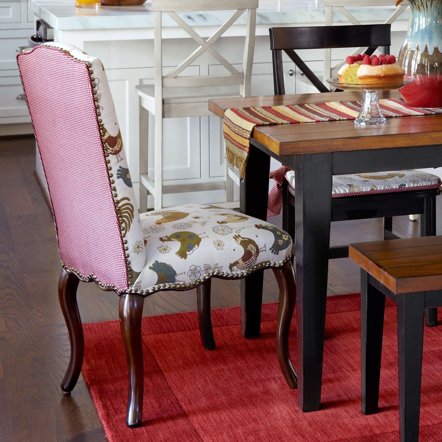 houzz dining room chair covers pads for glider rocking chairs claudine rooster pier1 pinterest