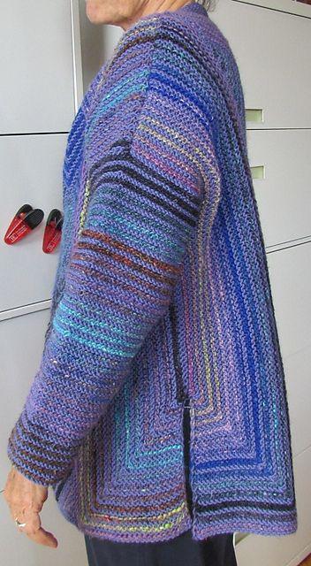 Ravelry: Diamond Panel Jacket pattern by Melody Johnson | Knitted ...