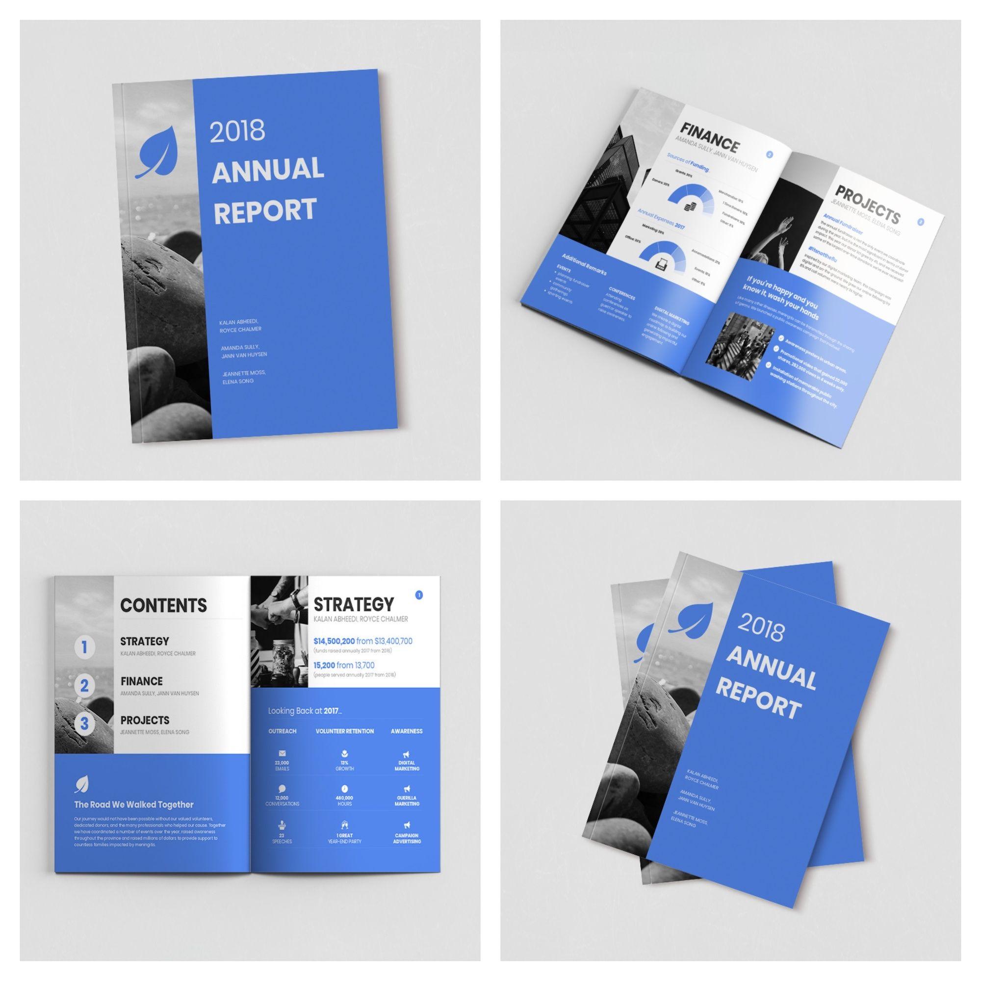 Non Profit Annual Report Nonprofit Annual Report Design Annual Report Report Design
