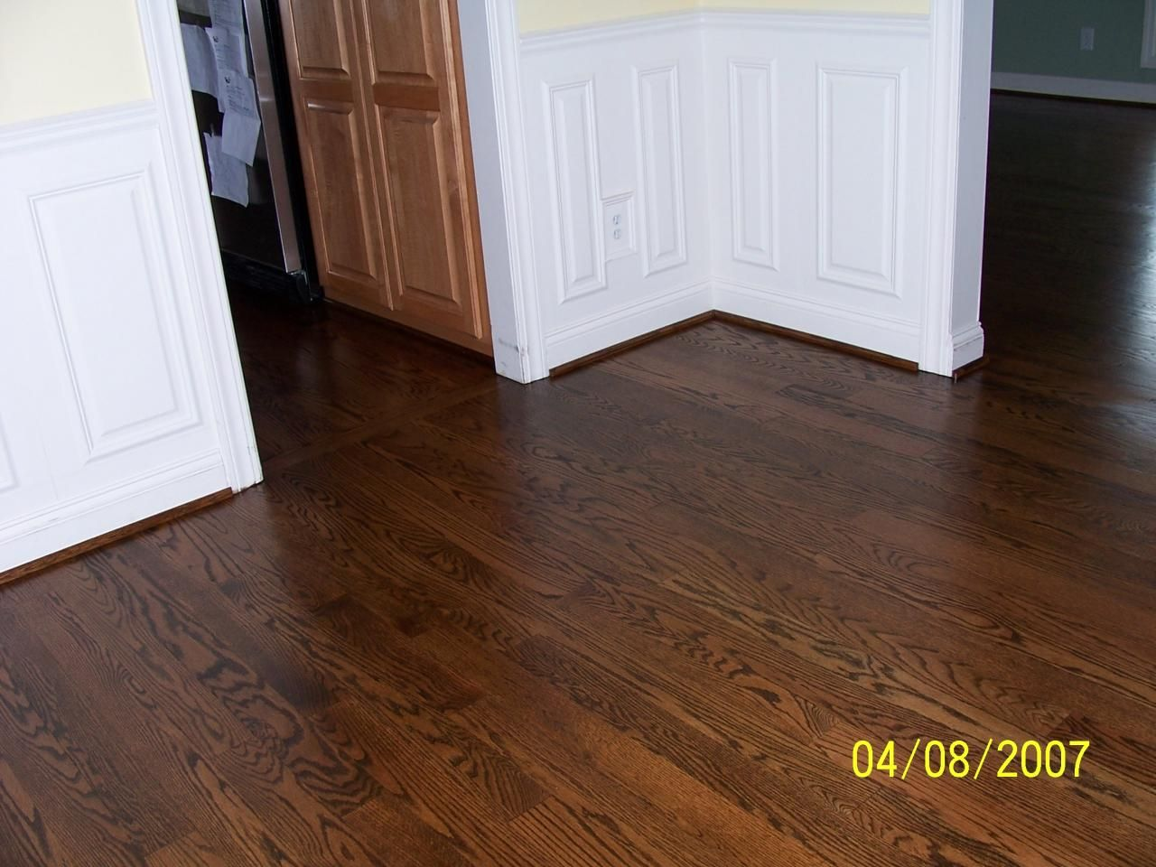 Oak floor stains mixed together walnut and dark oak wanted to