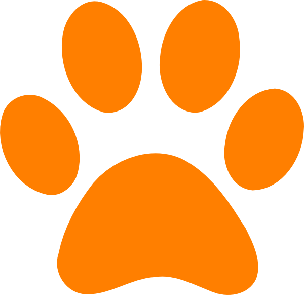 orange art orange paw print no back clip art the color rh pinterest com au