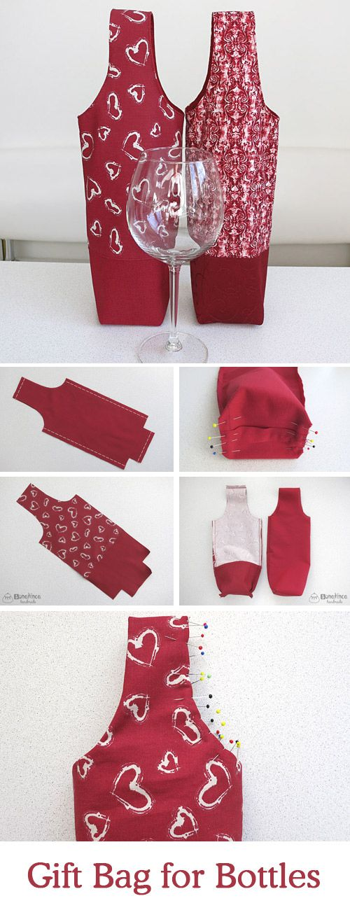 Diy Tutorial And Pattern A Bag For Wine Http Www Free 2017 04 On Gift Bottles Html