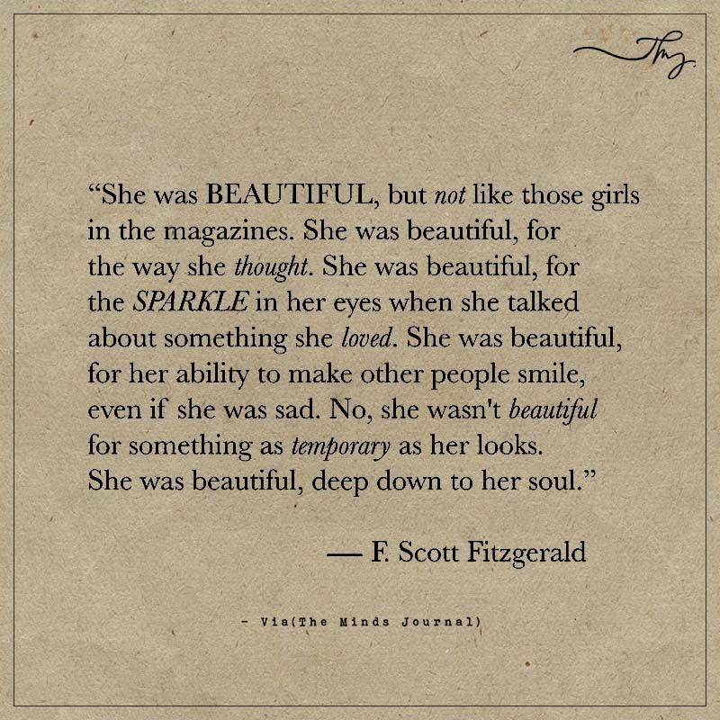 She Was Beautiful, But Not Like Those Girls In Magazines